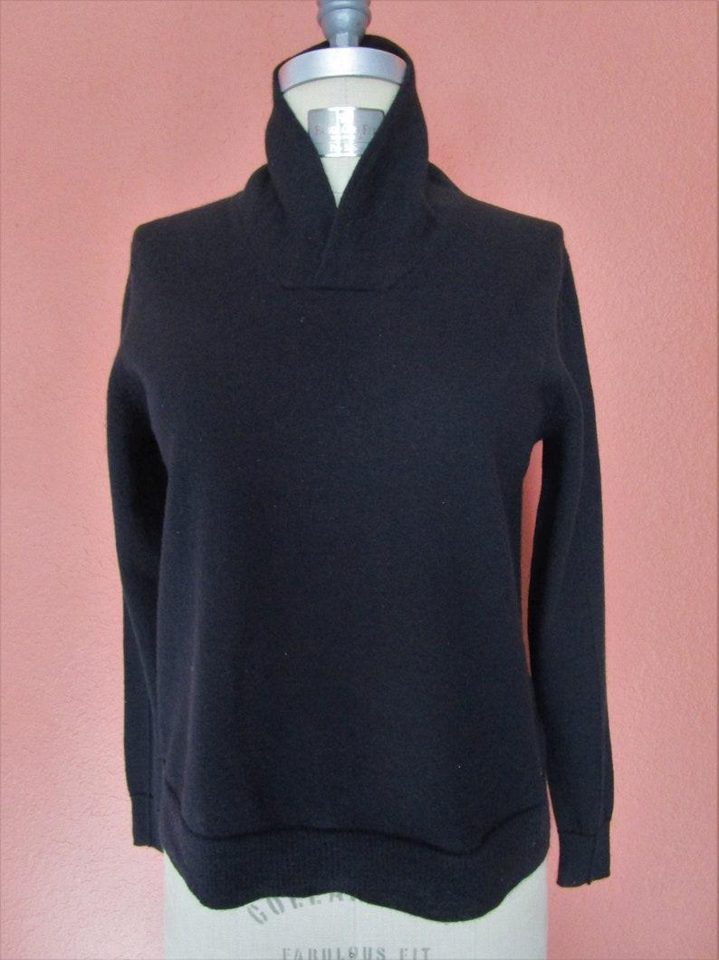 S Paco Rabanne Split High Neck Pullover Knit Sweater Merino image 0