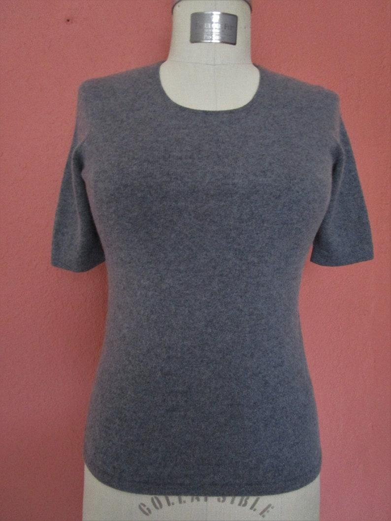 XS S Banana Republic CASHMERE  Knit Sweater Pinup Scoop Neck image 0