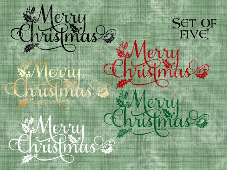 Frohe Weihnachten Download.Digital Download Frohe Weihnachten Typografie Schreibschrift Mit Holly Und Schnörkel Weihnachten Gruß Digi Stamp Digitale übertragung