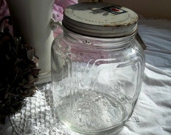 Morrell Jar Canister Ribbed with metal lid