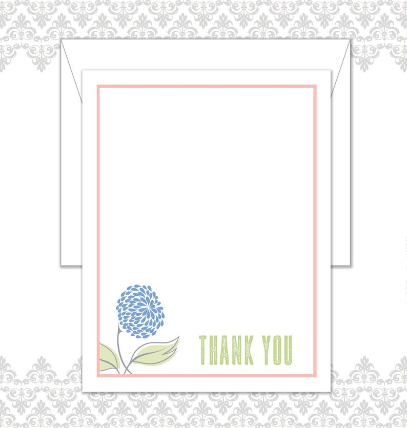 Flower Stationery Set of 10 with envelopes Custom Stationery image 0