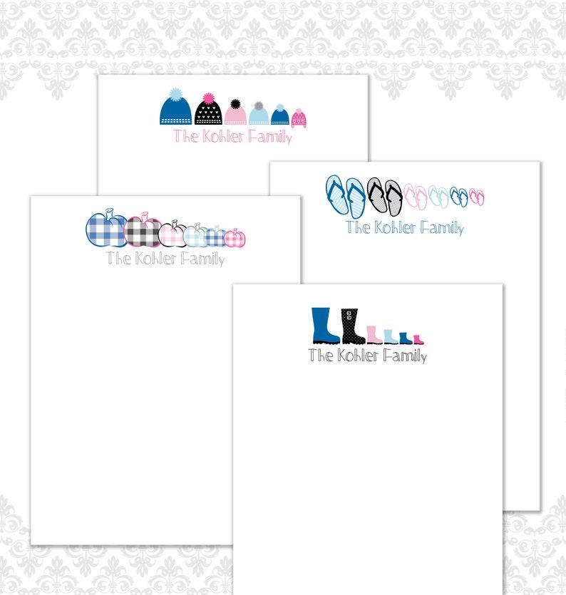 Seasonal Custom Family Stationery Set of 16 Family image 0