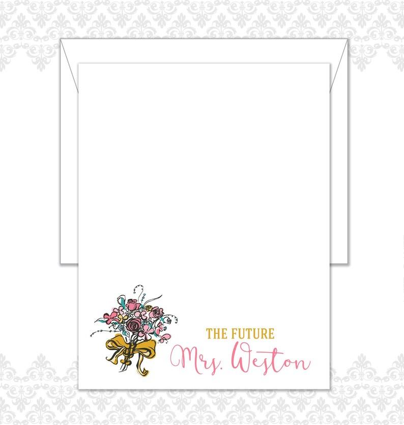 Future Bride Stationery Set of 10 includes envelopes Wedding image 0