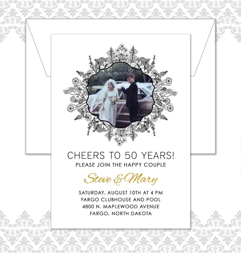 50th Anniversary Party Invitation 40th Anniversary Party image 0