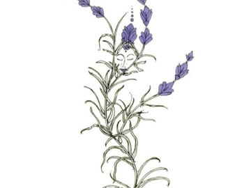 Lavender, A Set of Four Greeting Cards