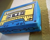 Cassette Tape 3D Canvas (3x5x1.5inches) original drawing