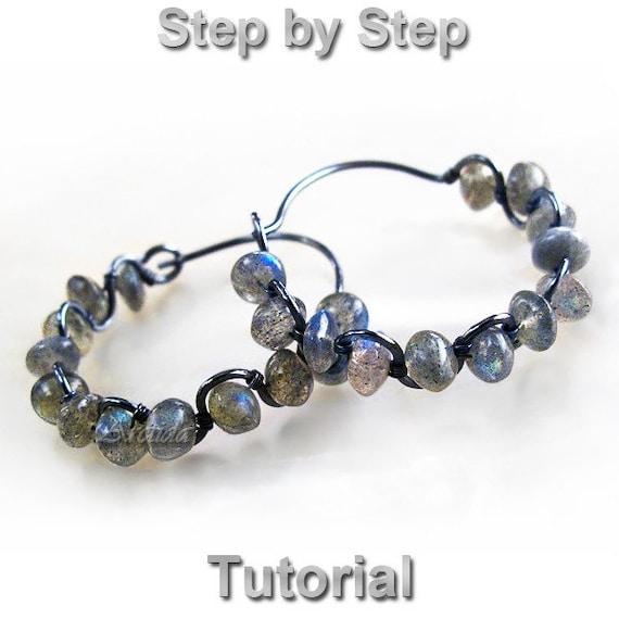 Earrings Tutorial Hoops Tutorial Diy Hoops Earrings Wire Wrap Etsy