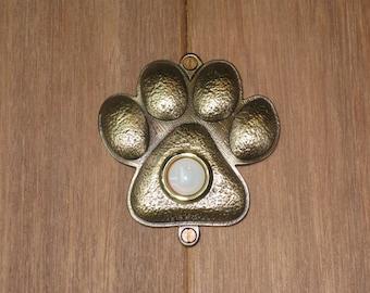 Bronze Pawprint Doorbell