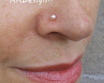 Strong-Willed 2.8mm Real Si Diamond Solitaire Nose Lip Screw Stud Wedding Party Piercing Ring At All Costs Jewelry & Watches