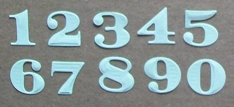 Die cut Numbers Pastels image 0