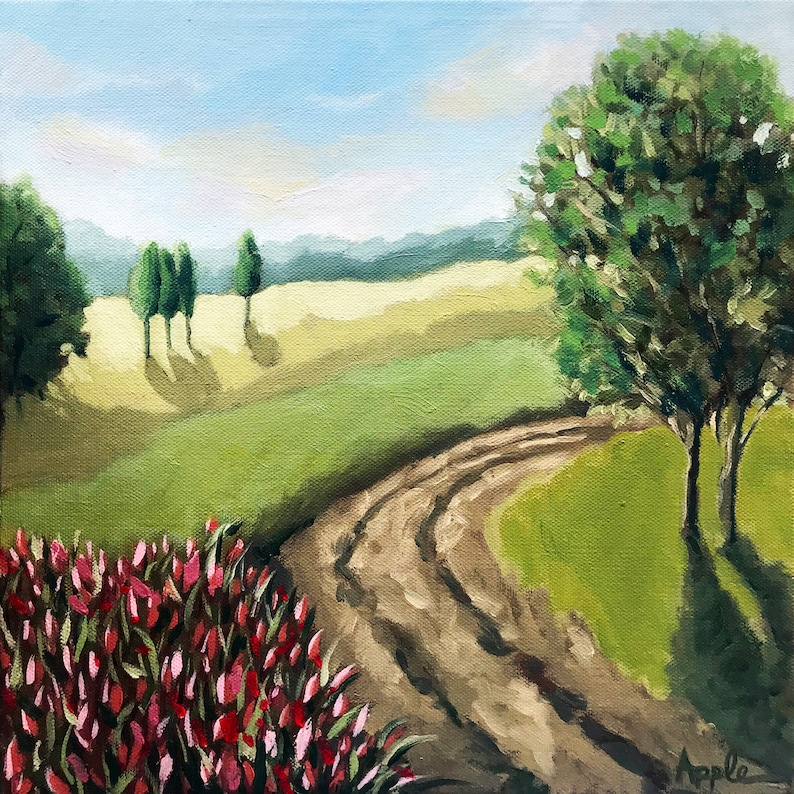 Country Road_impressionistic landscape_oil painting_plein image 0
