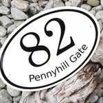 Custom Address Sign, Reserved Listing. Laser Engraved, Hand Painted, Coated with Epoxy Resin.
