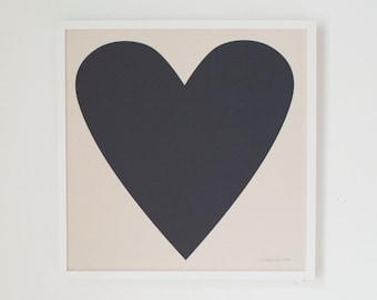 Black Heart Print