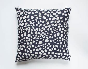 Leopard Spot Inspired All Linen Pillow Cover