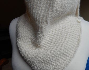 Super Soft Baby Alpaca Button up Neck Warmer, Cowl, Women's Winter Wear, Hand Knitted, Handmade, Gift for Her