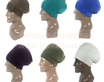 Men's Beanie Cap, Hat, Crown, Dreadlocks, Taupe, Teal, Blue, Plum, Olive Green, Ivory, Men's Rasta Hat, Men's Stretchy Beanie Hat