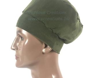 Men's Brown Crown, Beanie Rasta Hat For Men, Natural Hair Dreadlocks, Olive Green, Stretchy Hat For Men, Men's Hair Accessories