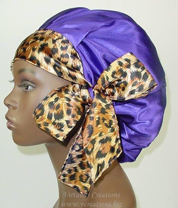 sommeil Cap-Vert Multi Satin Doublé Bonnet Cheveux Bonnet Head Wrap