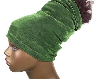 Headband, HeadTube, Head Tube, Dreadlocks, Locs, Head Wrap, Headwrap, Natural Hair Accessories, Olive Green, Handmade, Sisterlocks