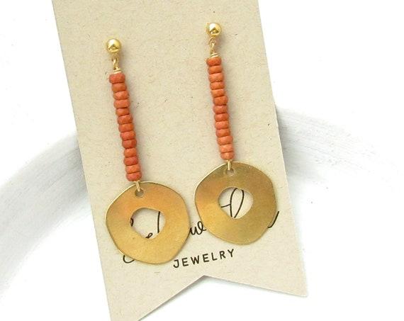 Pendulum Earrings > Burnt Sienna