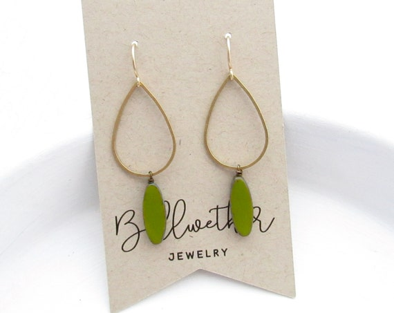 Balance Earrings > Olive