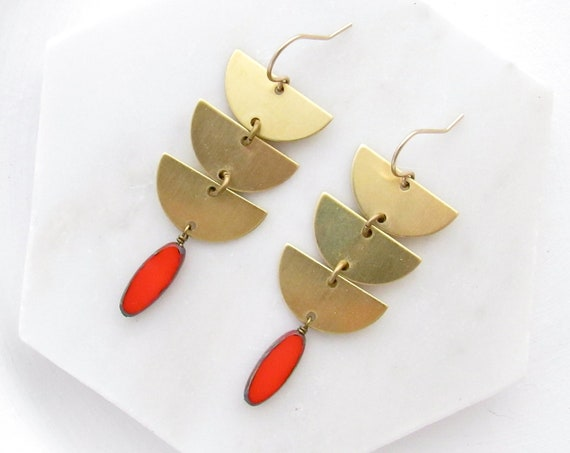 Abstract Earrings > Coral
