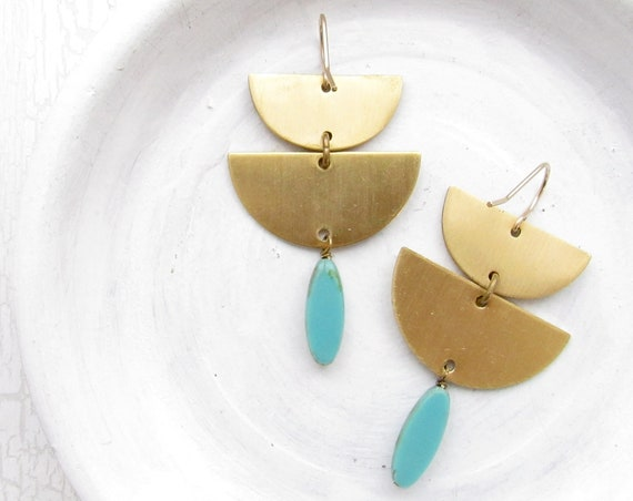 Abstract Earrings > Turquoise