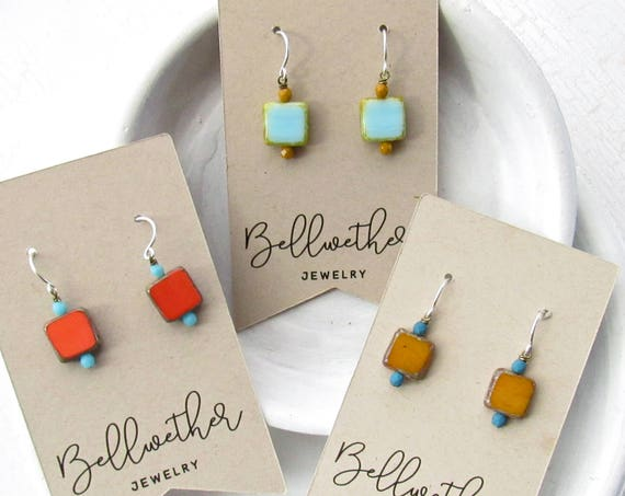 WHOLESALE LISTING // Small Square Earrings - Set // ESS3