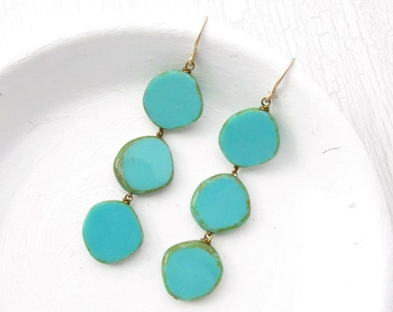 Dot Earrings > Turquoise