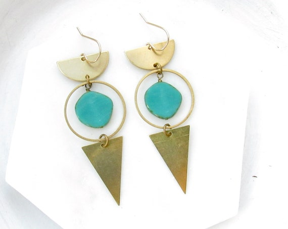 WHOLESALE LISTING // Impact Earrings - Turquoise // EIT
