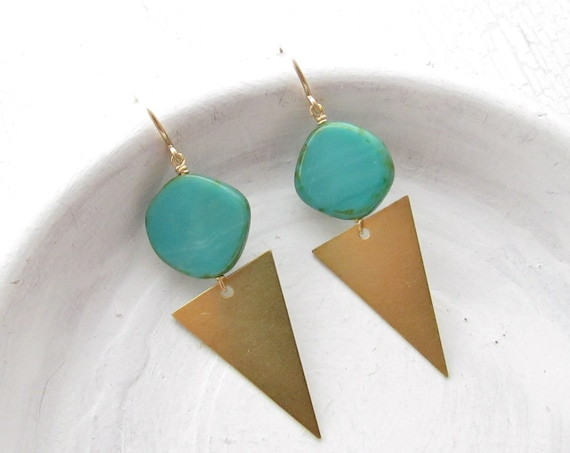 WHOLESALE LISTING // Point Earrings - Turquoise // EPT