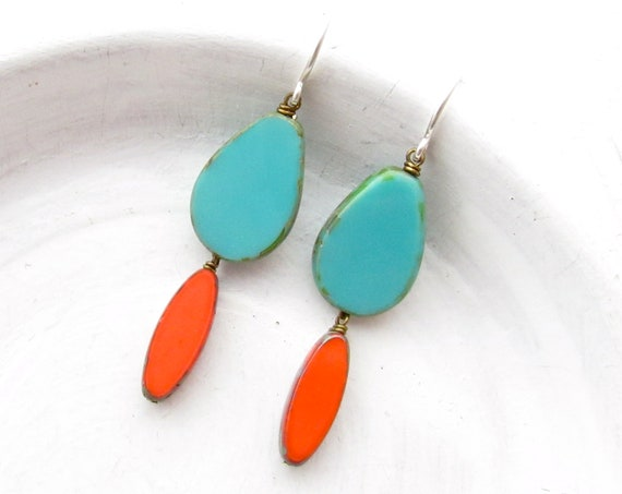 Pigment Earrings > Turquoise