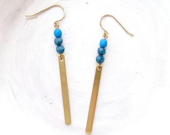 WHOLESALE LISTING // Reflection Earrings - Cobalt // ERC