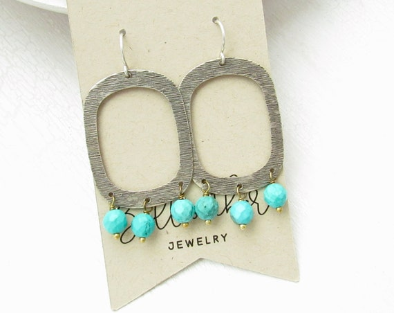 Out West Earrings > Turquoise Magnesite