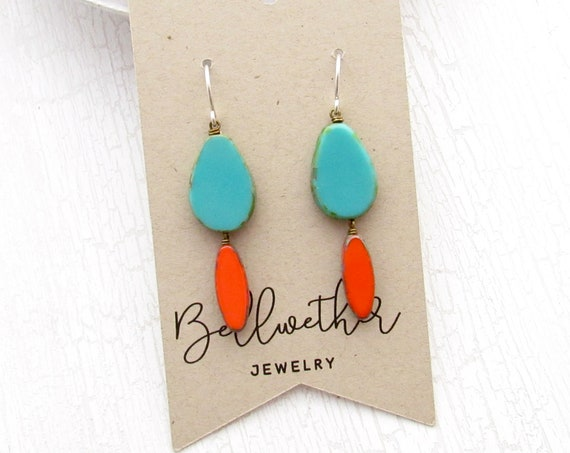 WHOLESALE LISTING // Pigment Earrings - Turquoise // EPT