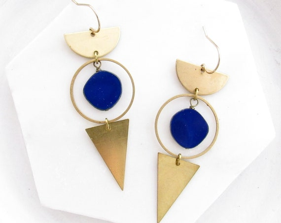 Impact Earrings > Navy