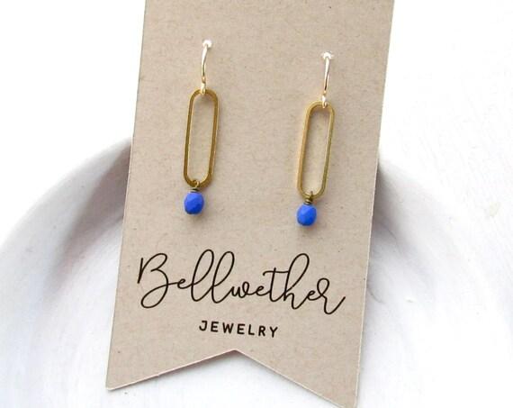 WHOLESALE LISTING // Oval Earrings - Blue // EOB