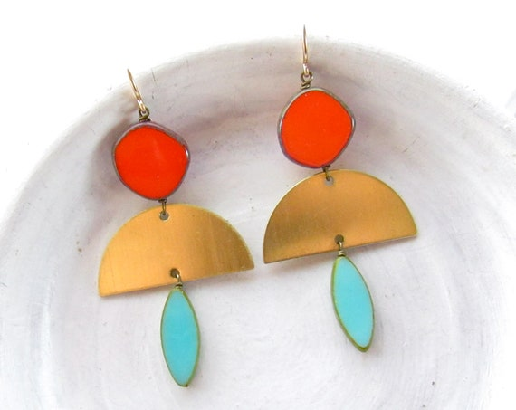 WHOLESALE LISTING // Half Moon Earrings > Turquoise // EHMT