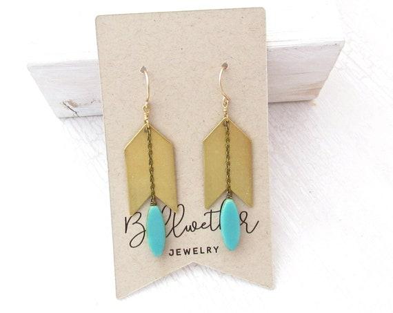 Arrow Earrings > Turquoise