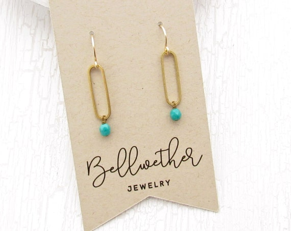 Oval Earrings > Emerald