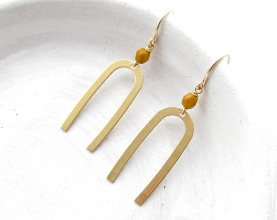 WHOLESALE LISTING // Matisse Earrings - Mustard // EMM