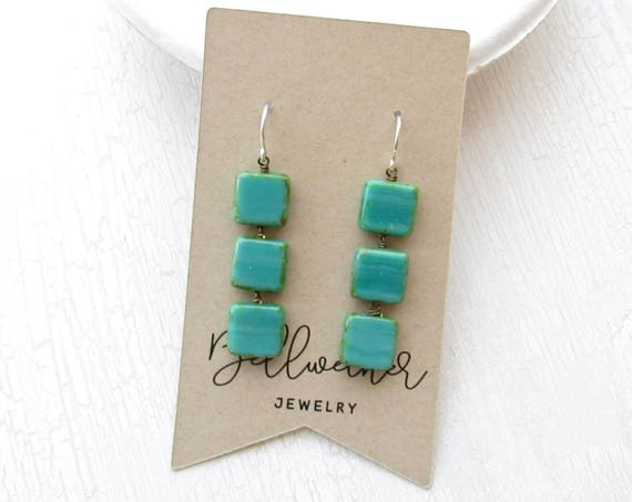Stacked Earrings > Turquoise