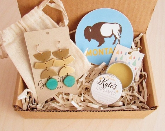 Bellwether Box - Montana Gift Box - Free Domestic Shipping - Holiday Wrapping & Message Included - Ready to Gift - Choose Your Own Earrings