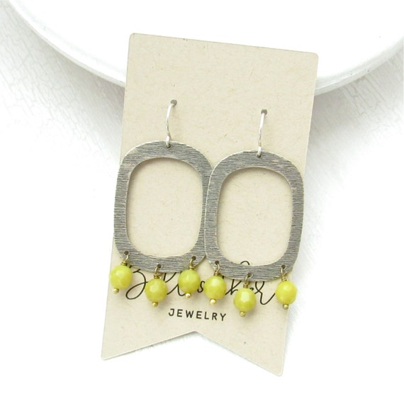 Out West Earrings > Olive Jade