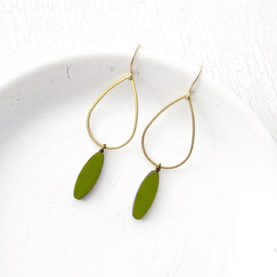 WHOLESALE LISTING // Balance Earrings - Olive // EBO