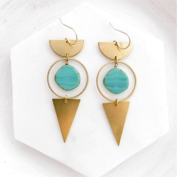Impact Earrings > Turquoise