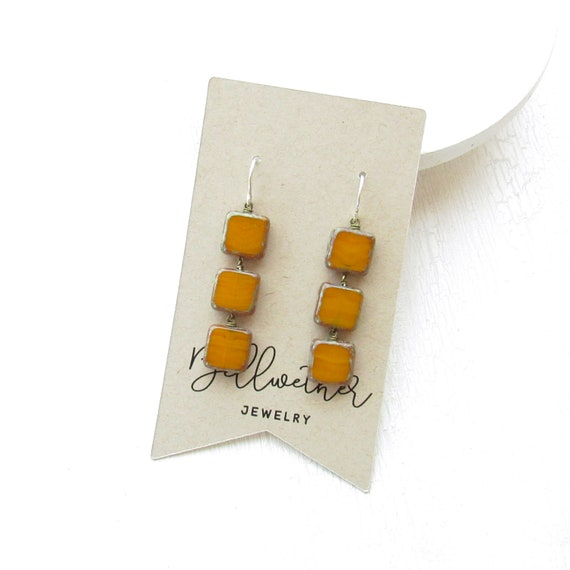 WHOLESALE LISTING // Stacked Earrings > Yellow Ochre // ESY