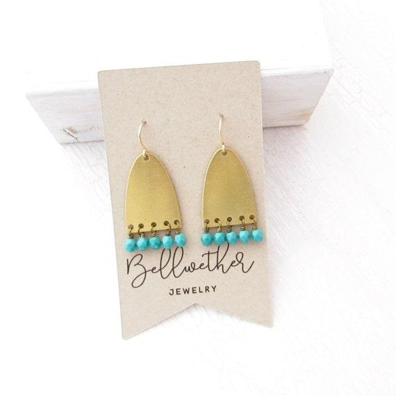 Ellipse Earrings > Green