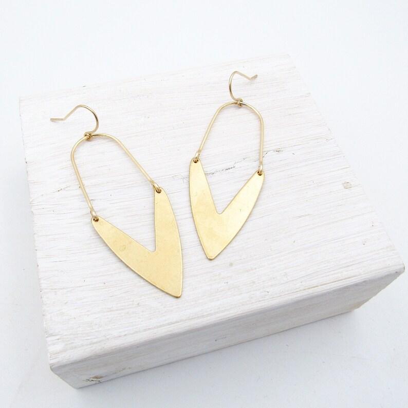 Statement Earrings Gold / Earrings Dangle / Modern Earrings / image 1