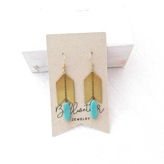 WHOLESALE LISTING // Arrow Earrings - Turquoise // EAT